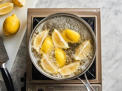 تمیز کردن قابلمه سوخته با لیمو