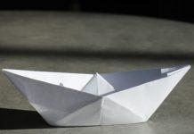 طرز ساخت قایق کاغذی به روش اوریگامی