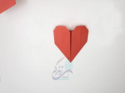 روش دوم ساخت اوریگامی قلب