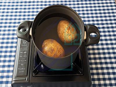 آبپز کردن سیب زمینی