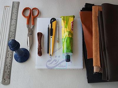 ابزار مورد نیاز برای دوخت کیف پول چرم مردانه