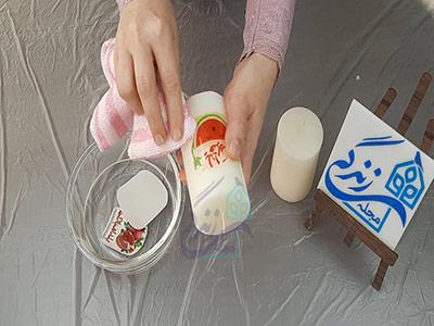 دکوپاژ روی شمع با ترانسفر