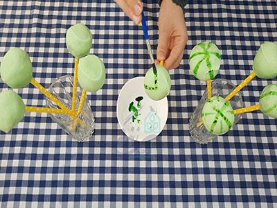 ایجاد طرح روی پاپ کیک هندوانه