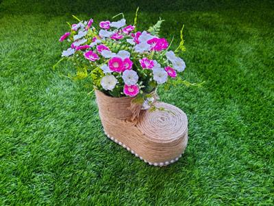 ساخت گلدان با بری نوشابه