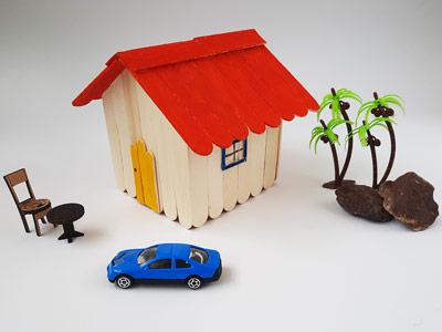 آموزش ساخت خانه با چوب بستنی