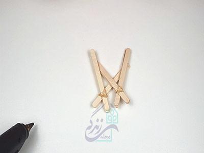 ساخت پایه برای ساخت منجنیق با چوب بستنی
