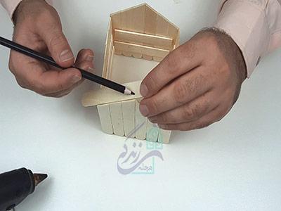 ساخت برای خانه با چوب بستنی