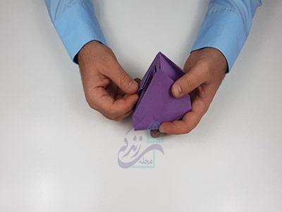 حجم دادن به کاغذ برای اوریگامی سه بعدی قلبی