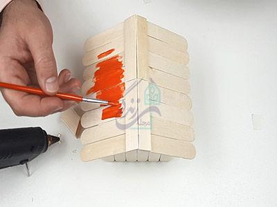 رنگ کردن خانه با چوب بستنی