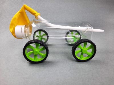 ساخت ماشین بادکنکی با بطری