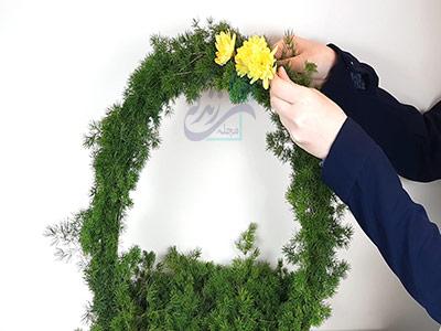 تزئین سبد با گل برای درست کردن هفت سین