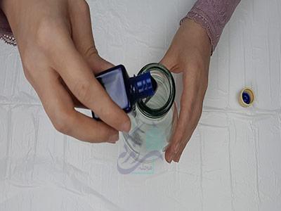 ساخت گلدان با بطری با استفاده از رنگ ویترای