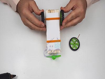 اتصال چرخ ماشین برای ساخت ماشین با آرمیچر