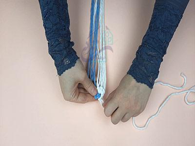 ایجاد حلق برای بافت زیر لیوانی مکرومه