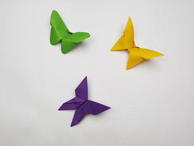 آموزش اوریگامی پروانه سه بعدی