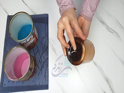 رد کردن فیتیله از ظرف برای شمع سازی