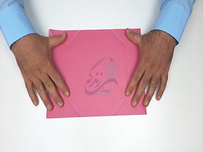 باز کردن کاغذ در آموزش کاردستی جعبه
