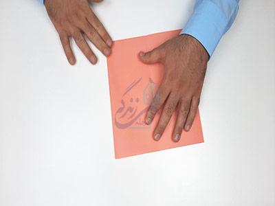 تا کردن کاغذ در آموزش کاردستی جعبه