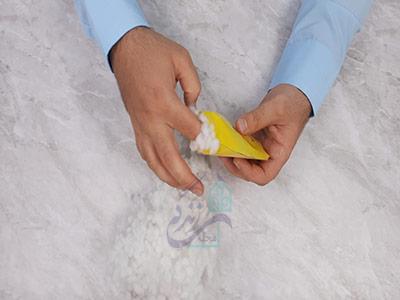 پر کردن اسکویشی با الیاف در ساخت اسکویشی با کاغذ