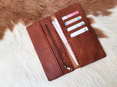 آموزش دوخت کیف چرم همراه با الگو